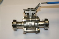 "Sanitary Ball Valve RJT Male Ends Sizes 1""-4"""