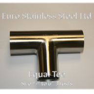 "Equal Tee Size 1/2"" to 6"" 316s/s"