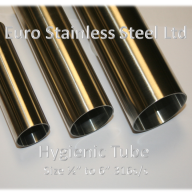 "Hygienic Stainless Steel Tube Sizes 1/2"" to 6"" 316s/s"