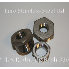 "BSP Hex Reducing Bush 1/4"" to 4"" 316s/s"