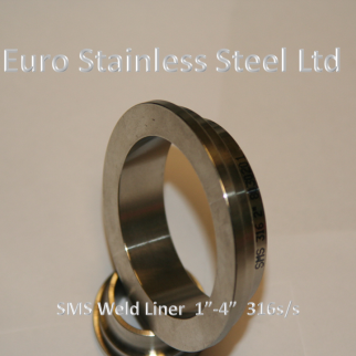 "SMS Weld Liner 1""-4"" 316s/s"