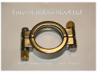 "High Pressure Clamp for Clamp union 1/2"" to 8"" 316s/s"
