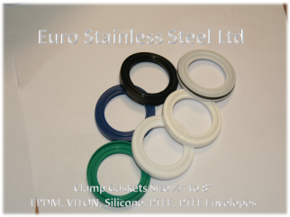 "Clamp Gaskets 1/2"" to 8"" - EPDM,Viton,Silicone,PTFE"